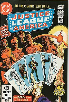 Justice League Of America # 203 - Royal Flush Gang ( Perez Cover - Scarce 1982)