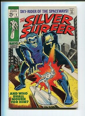 Silver Surfer 5 Fn Fantastic Four Lee Buscema C/a 1969