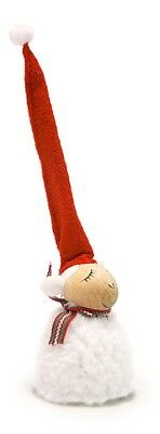 Nordic White Sheep with Red Hat Gnome Christmas Ornament Nisse Tomte Tonttu