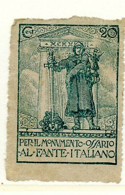 Italy Poster Stamp Charity WWI Soldier Memorial