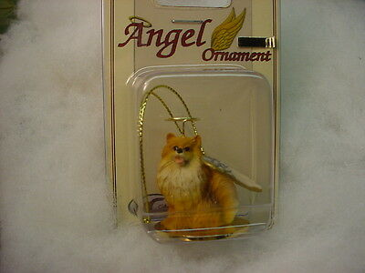 POMERANIAN red brown dog ANGEL Ornament Resin Figurine NEW Christmas puppy