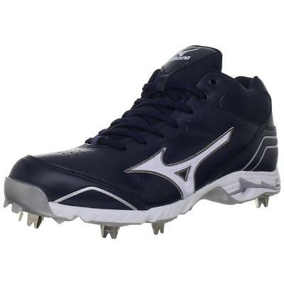 MIZUNO 9 SPIKE ADVANCED Men's NavyWhite Classic Baseball Cleat 16M