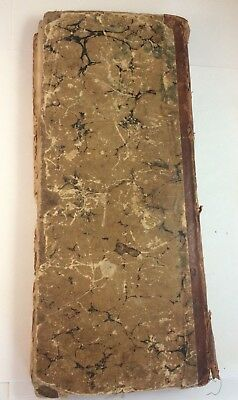 Antique Huge Handwritten Ledger Book 1806 - 1807  News Clippings Many Names