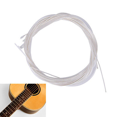 6pcs Guitar Strings Nylon Silver Plating Set Super Light for Acoustic Guitar TEU