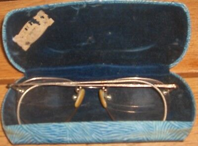 WIRE RIM GLASSES SPECTACLES by W LEROY OPTOMETRIST WASHINGTON D C