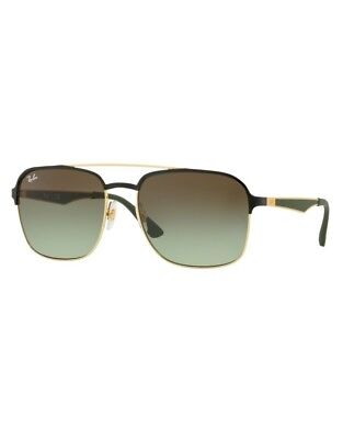 Sonnenbrille Ray Ban New RB3570 9110 E8 58 Gold Black Green Gradient Brown c22435f83c