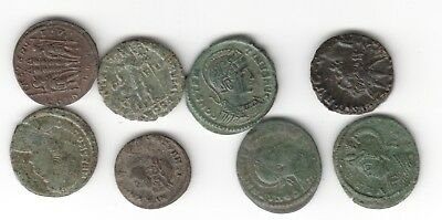 8X Bronze Roman Coins In Nice Condition Nice Condition Auction Start £1
