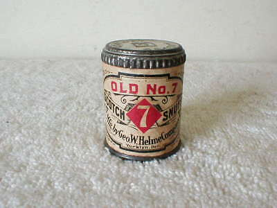 VINTAGE UNOPENED OLD NO. 7 SCOTCH SNUFF TIN w/Revenue Stamp Excellent Condition