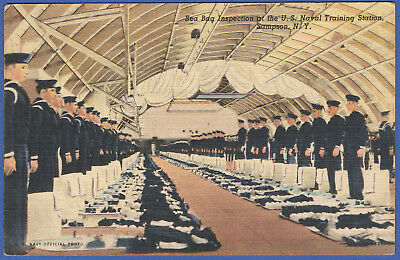 S429 - PPC WWII US Navy1944 Sampson, NY Training Station, Sea Bag Inspection