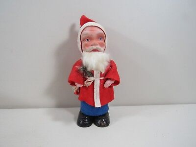 "Antique Vintage Composition German Germany 7""h Santa Claus Figure"