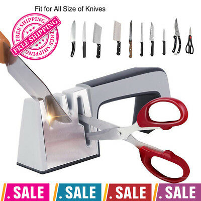 Knife Scissors Sharpener Professional Edge Kitchen Sharpens Stage Functional New