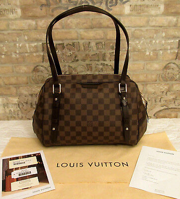 2ad346b07234 NEW Authentic Louis Vuitton Rivington GM Damier Ebene N41158 Shoulder Bag  NWT