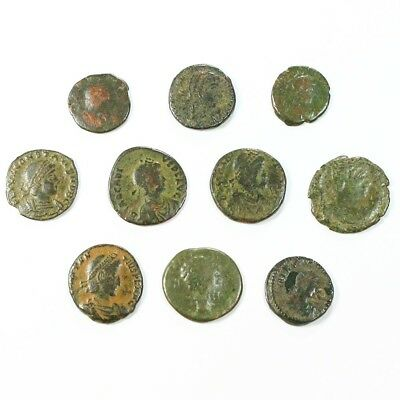 Ten (10) Nicer Ancient Roman Coins c. 100 - 375 A.D. Exact Lot Shown rm3505