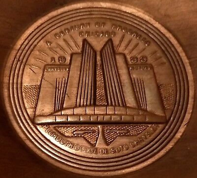 Century of Progress Chicago Chrysler Building Copper Ashtray Dodge DeSoto