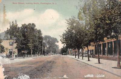 Flemington New Jersey Main Street Looking North Vintage Postcard JA454860