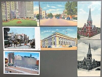 # T0587    Jersey City,  N.j.   Postcard Lot,   7  Dif.   Cards