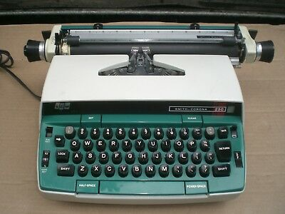 Vintage Smith Corona Office Electric 250 Electric Typewriter