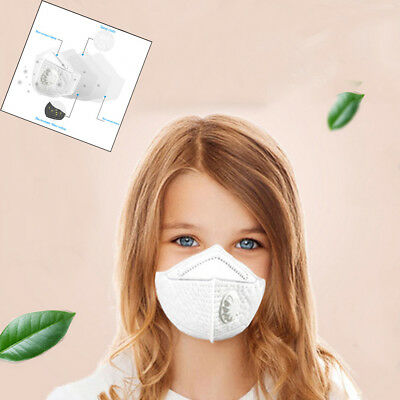 Face Masks N95 Particulate Respirator Masks with Valve Kids PM2.5 Dust mask