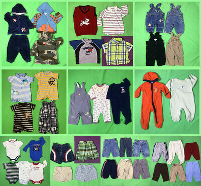 42  pieses  baby boy's  cute everyday clothes mixed lots  Size 6--9 M