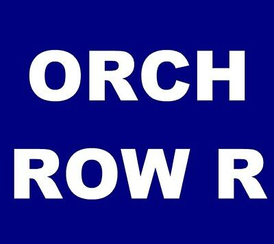 Hozier tickets Santa Barbara Arlington Theatre 4/10 *** ORCH, ROW R! ***