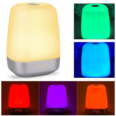Easyacc LED Natural Wake-Up Light Sunrise Alarm Clock Simulation Therapy Lamp