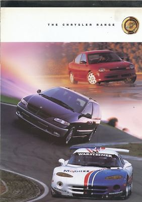 Catalogue Voiture Ad  The Chrysler Range   1998  En Anglais