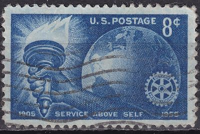 USA 1955 Mi.-Nr. 686, Sc 1066, 8 C. gestempelt Rotary International, 50th