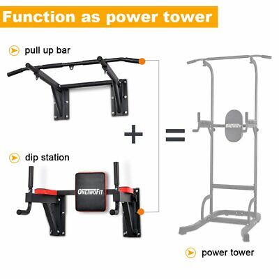OneTwoFit Multifunctional Wall Mounted Pull Up Bar Chin Up load 330 Lbs OT076