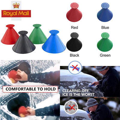Car Windshield Magic Ice Scraper Tool Cone Shaped Funnel Remover Snow Outdoor UK