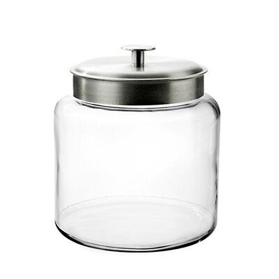 Jar Glass Container Large Storage 1.5 Gallon Lid Pantry Counter Dishwasher Safe