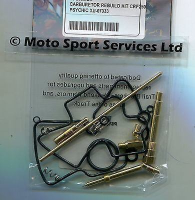 CARB CARBURETTOR REBUILD Kit Honda CRF 250 X 2004-06 (Keihin) Jets Needle  Valve