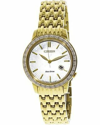 Citizen Women's Eco-Drive EW2282-52D Gold Stainless-Steel Japanese Quartz F