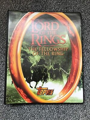 Lord Of The Rings Fellowship Movie Trading Cards In Binder. Topps 2001. Full Set