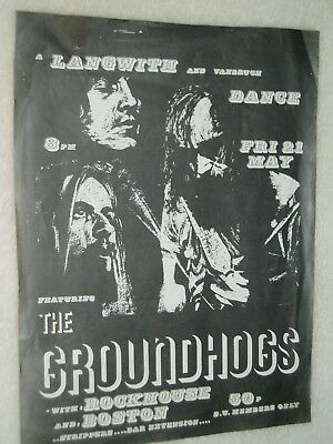 "THE GROUNDHOGS   Blues..... ""ORIGINAL"" HANDBILL POSTER FLYER.........York.1970's"