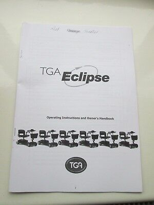 TGA Eclipse Mobility Scooter Photo Copy of  Owners Manual Instructions