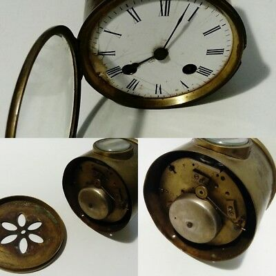 ANTIQUE CLOCK CHIMES ON HALF HOUR AND HOUR - Non runner spares repair