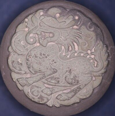 Chinese stone paperweight / seal dragon in presentation box, 55mm *[14772]