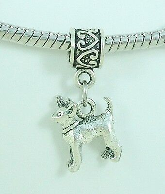 Chihuahua Lovers 3D Slider Charm fits European Bracelets or Necklace