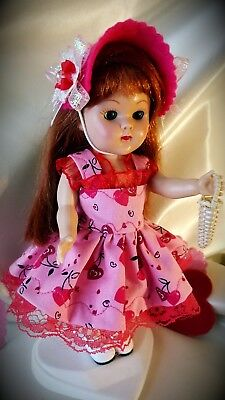 vintage reproduction Ginny Muffie Valentine  outfit 8 inch 7 inch doll clothes