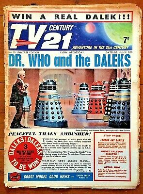 TV CENTURY 21 # 28 July 31 1965/2065 Stingray/Daleks/Fireball xl5 Incomplete