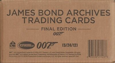 JAMES BOND Archives final edition - One (1)  Factory Sealed Case - Has 12 Boxes