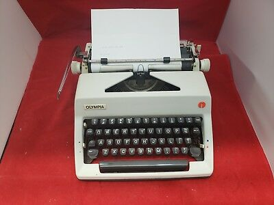 Vintage Olympia SM9 Typewriter Western Germany With Case 1970s