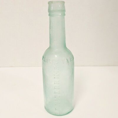 """Antique Lea & Perrins Worcestershire Sauce Green Glass Bottle 