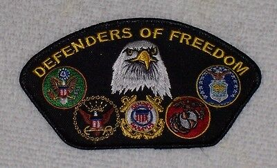 Defenders Of Freedom Eagle Branches Embroidered Biker Patch