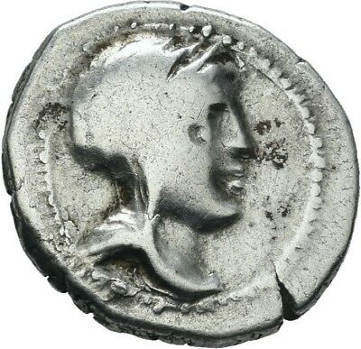 LANZ Corcyra Island off Epeiros Silver Drachm Dione Bust Pegasus Wreath °HPA015