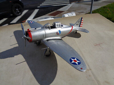 1/48 scale Seversky P-35a fighter, USAF pre-war ww2 painted built model plane