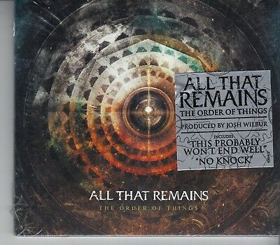 ALL THAT REMAINS The Order Of Things USA CD NEW SEALED RAZOR & TIE DIGIPACK