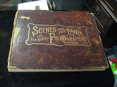 1892 Scenes From Every Land 500 + Photographic Views Hardcover Book