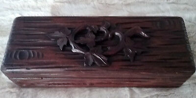 Beautiful Antique Carved Black Forest Wooden Box