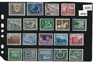#3496  MNH stamp set / Regular Postage / Nazi Germany / Third Reich / MNH Stamps